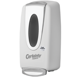 Elite Foaming Sanitizer Dispenser White - Certainty Brands