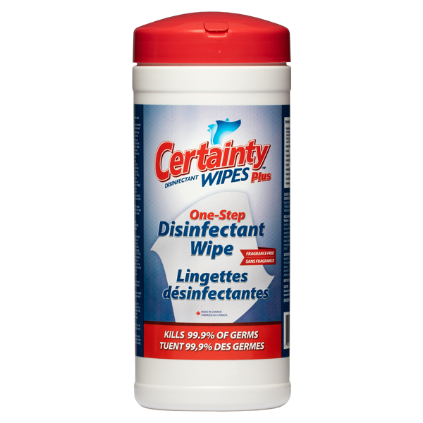 Certainty Plus Disinfectant Wipes